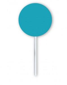 Piruleta azul redonda
