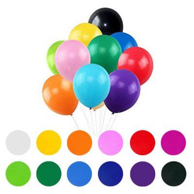Globos de látex en diferentes colores